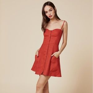 Reformation Amery Dress in Red